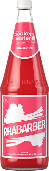 becker´s bester Rhabarber Nektar 6x1l Glas (+Pfand 2,40€)