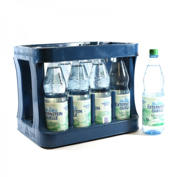 Externstein Medium 12x1l PET (+3,30€ Pfand)
