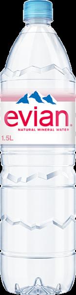 Evian Naturelle 6x1,5l PET (+Pfand 3,00€)