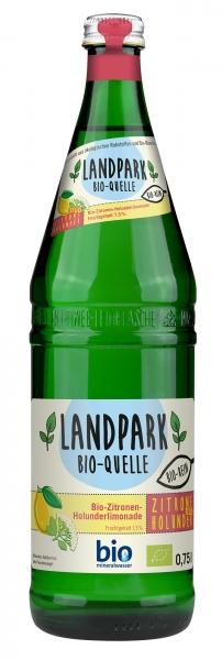 Landpark Bio Limonade Zitrone Holunder 12x0,75l Glas (+Pfand 3,30€)