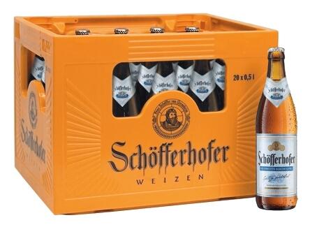 Schöfferhofer Weizen A.frei 20x0,5l (+Pfand 3,10€)