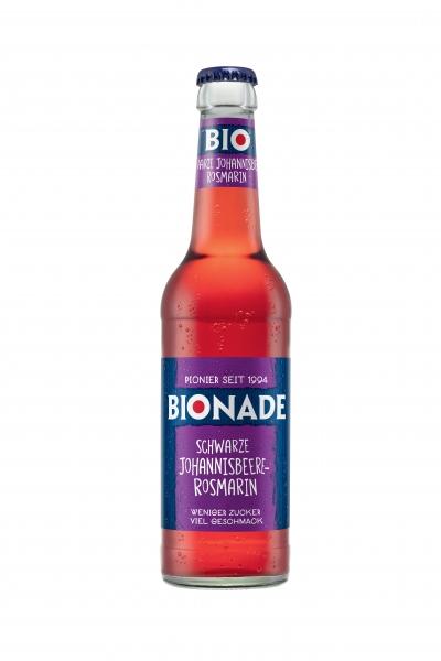 Bionade schwarze Johannisbeere-Rosmarin 12x0,33l Glas (+2,46€ Pfand)
