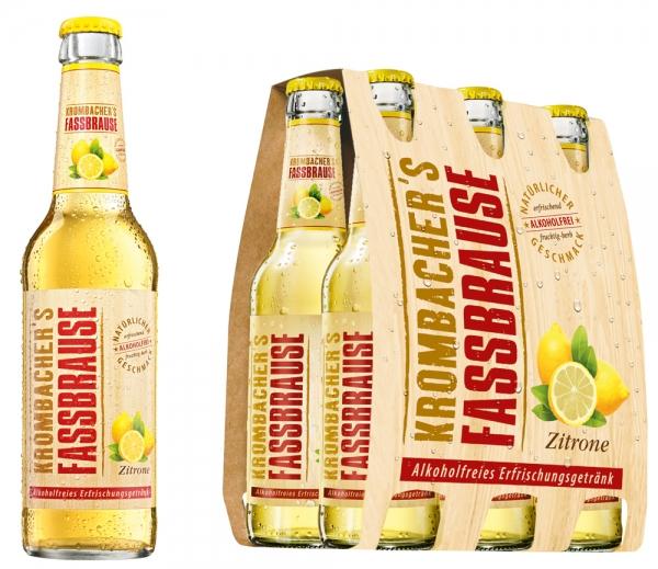 Krombacher Faßbrause Lemon 6x0,33L (+ Pfand 0,48€)