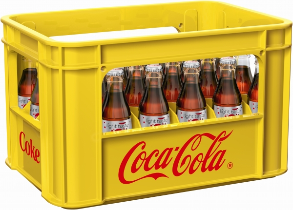 Coca Cola light 24x0.2l Glas (+Pfand 5,10€)