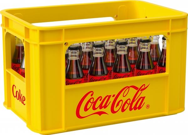 Coca Cola Zero 24x0,2l Glas (+Pfand 5,10€)