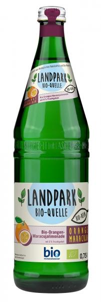 Landpark Bio Limonade Orange Maracuja 12x0,75l Glas (+Pfand 3,30€)