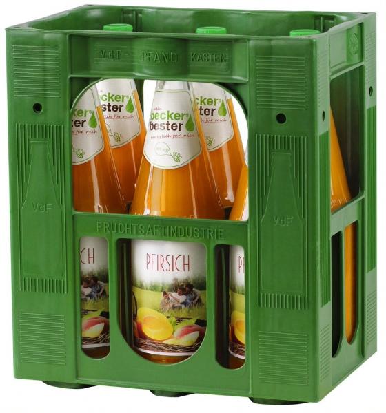 becker`s bester Pfirsich 6x1l Glas (+Pfand 2,40€)
