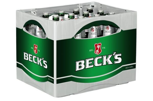 Becks Pilsener 20x0,5l (+Pfand 3,10€)