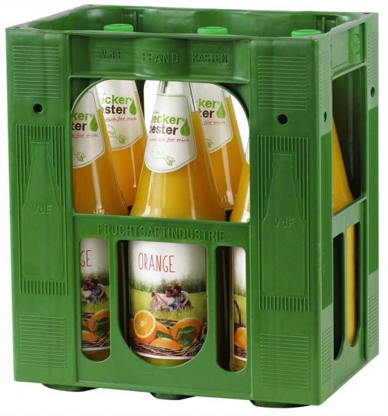 becker`s bester Orangensaft 6x1l Glas (+Pfand 2,40€)