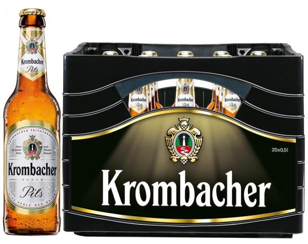 Krombacher Pils 20x0,5l (+Pfand 3,10€)