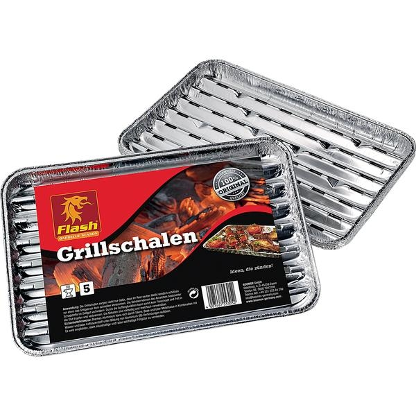 Grillschale 5er Pack Flash Grillpfanne