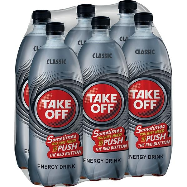 Take Off Energy Drink 6x1l Flasche (+1,50€ Pfand)
