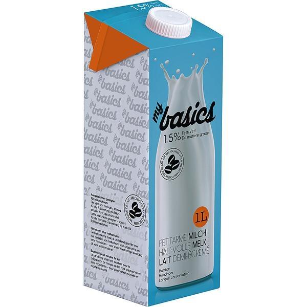 haltbare Milch MyBasics 1,5% Fett 1l