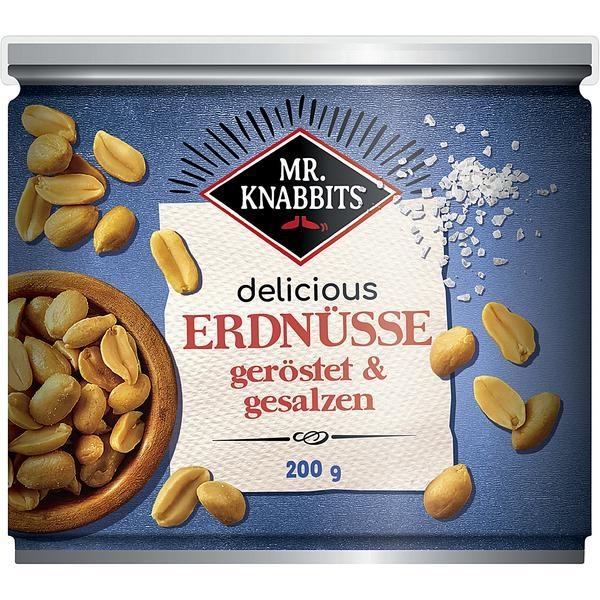Mr.Knabbits Erdnüsse | 200g Dose