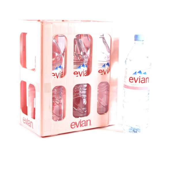 Evian Naturelle 6x1,25l PET (+Pfand 3,00€)