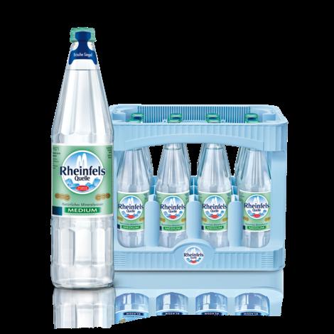 Rheinfels Medium 12x0,7l Glas (+Pfand 3,30€)