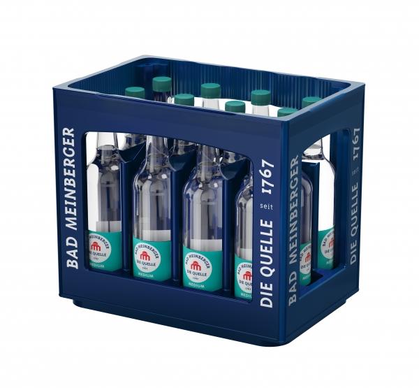 Bad Meinberger Medium 12x0,75l Glas (+Pfand 3,30€)