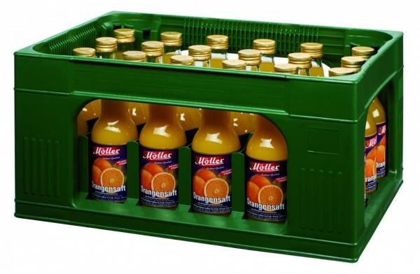 Möller Orangensaft 24x0,2l Glas (+Pfand 5,10€)