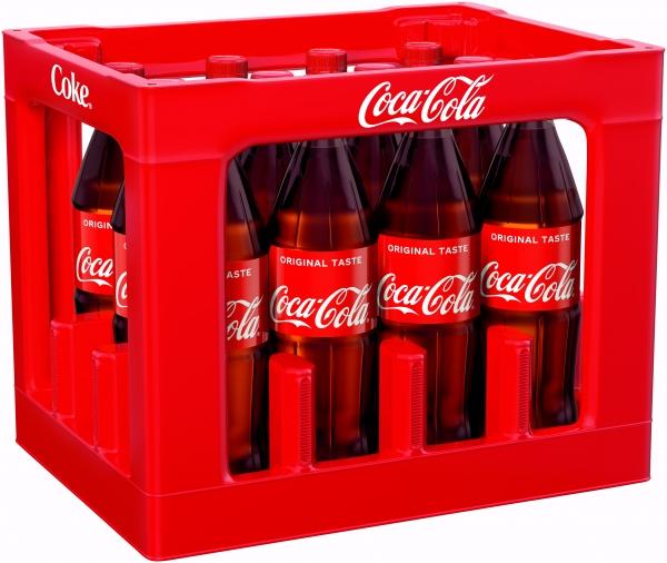 Coca Cola 12x1l PET (+3,30€ Pfand)