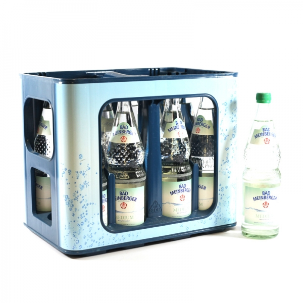 Bad Meinberger Medium 12x0,7l Glas (+Pfand 3,30€)