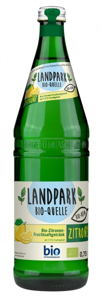 Landpark Bio Zitronenlimonade trüb 12x0,75l Glas (+Pfand 3,30€)
