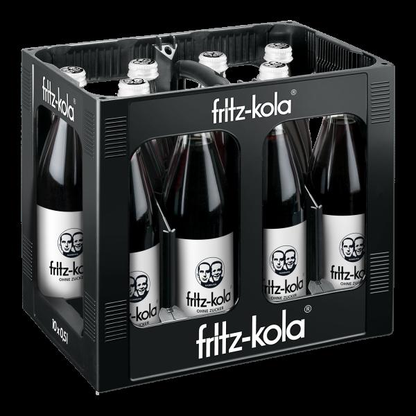 Fritz Cola ohne Zucker 10x0,5l (+3,00€ Pfand)