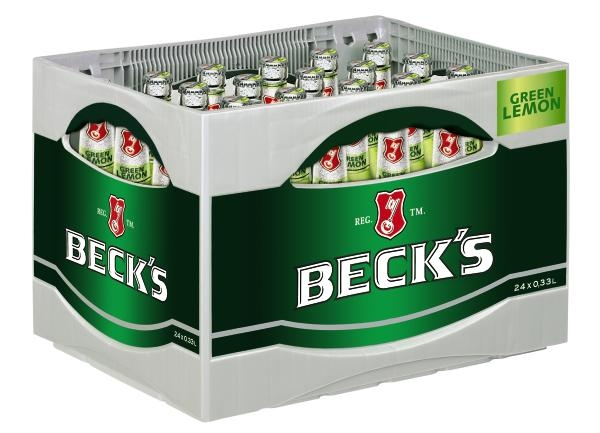 Beck´s Green Lemon 24x0,33l (+Pfand 3,42€)