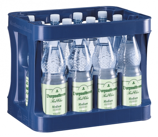 Burgwallbronn Medium 12x1l PET (+Pfand 3,30€)