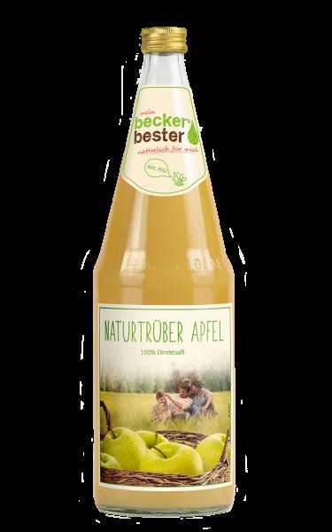 becker`s bester Apfelsaft Trüb 6x1l Glas (+Pfand 2,40€)