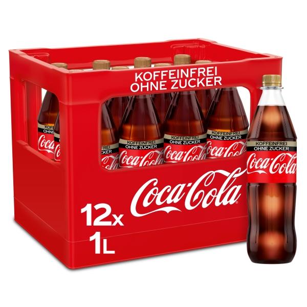 Coca Cola Zero koffeinfrei 12x1l PET (+3,30€ Pfand)