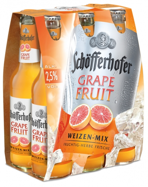 Schöfferhofer Grapefruit 6x0,33L (+ 0,48€ Pfand)
