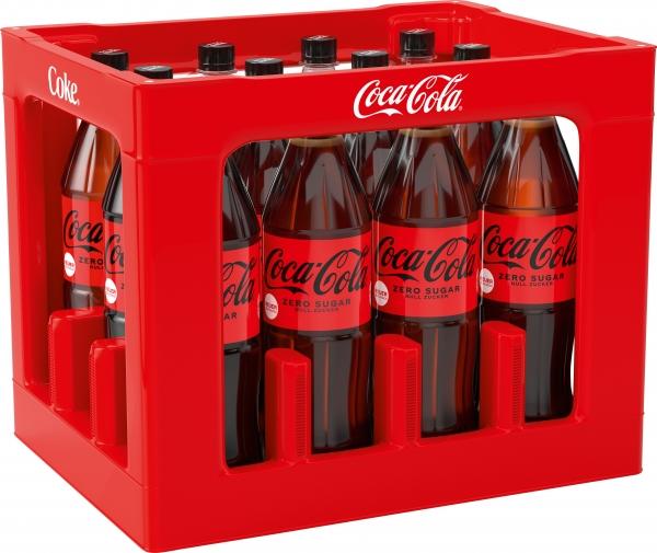 Coca Cola Zero 12x1l PET (+Pfand 3,30€)
