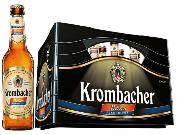 Krombacher Weizen A.frei 20x0,5l (+3,10€ Pfand)