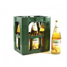 becker`s bester Apfelsaft Klar 6x1l Glas (+Pfand 2,40€)
