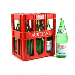 Lauretaner leicht und weiches Wasser 6x1l Glas (+3,40€ Pfand)