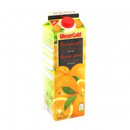 Wesergold Orangen Saft 1l Tetra Pack